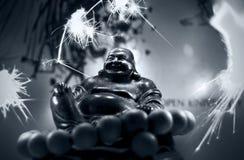 Buddah - fyrverkerier Royaltyfri Fotografi