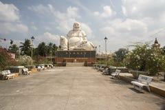 Buddah gordo el templo de Vinh Trang Imagen de archivo libre de regalías