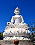 Buddah på en kulle arkivfoto