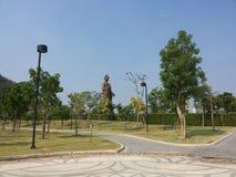 Buddah park. Buddah stature in sukornthip park stock photography