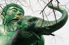 Buddah riding an elephant Royalty Free Stock Photos
