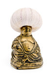 Buddah with sea urchin oh his head Stock Photos