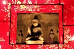 Buddah status i Fo Guang Shan Dong Zen Temple, arkivfoton