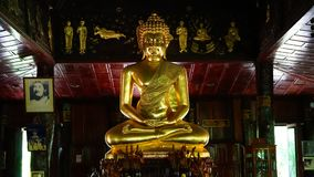 Buddah. Of Temple in Thailand royalty free stock images