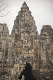 Buddah Tower Angkor Thom Royalty Free Stock Photos