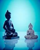 Buddahs en pierre noirs et gris Photo libre de droits