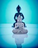 Buddahs en pierre noirs et gris Photos libres de droits