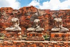 Buddahstandbeeld en Chedi van Wat Chaiwatthanaram Royalty-vrije Stock Afbeelding
