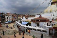 Buddanath Stupa. In Kathmandu city stock photos