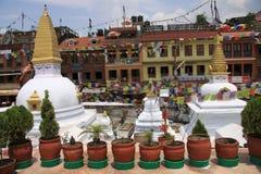 Buddanath Stupa. In Kathmandu city royalty free stock photos