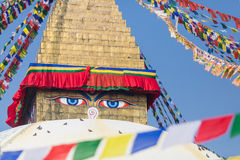 Buddhaögon Arkivbild
