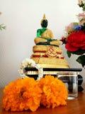Buddha świątyni oświetleniowy kwadrat Zdjęcia Stock