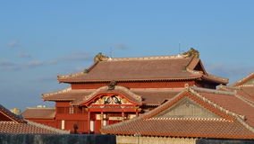 Buddha świątynny odgórny widok Fotografia Royalty Free