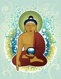 Buddha. Vector illustration of Buddha meditating Stock Image