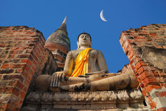 Buddha. Images taken in large measure Chai Mongkol Ayutthaya,Thailand Stock Image