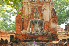 Buddha. Images taken in large measure Chai Mongkol Ayutthaya,Thailand Stock Photos