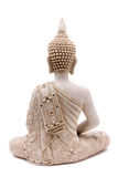 Buddha. Statue from rear against white background Stock Images