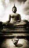 Buddha. In sukothai sitting with incense burning Royalty Free Stock Images
