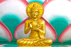 Buddha. Golden Buddha statue in Chinese temple, Thailand Stock Images