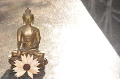Buddha. In meditation position with lotus Royalty Free Stock Photos
