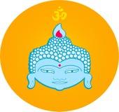 Buddha. Illustration of buddha's face Stock Photography