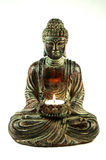 Buddha 2. Peaceful Buddha meditating with a candle Stock Images