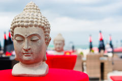 Buddha. Statues at a beach club Royalty Free Stock Photos