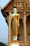 Buddha. Sculpture near the temple in Laos Stock Photo