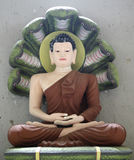 Buddha. Statue representing the portrait of Buddha in meditation stock image