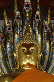 Buddha. A Buddha face in temple at thailand Stock Photo
