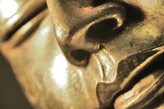 Buddha. Close up of a head of a buddha royalty free stock images