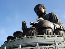 Buddha. Budda on top of a hill on Lantau Island Hongkong royalty free stock images