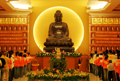 Buddha. Buddhist recites prayer at temple royalty free stock photography