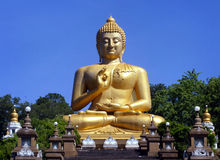 Buddha. A giant Buddha statue in Thailand royalty free stock photos