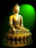 Buddha. A bronze scupture of buddha Royalty Free Stock Photography
