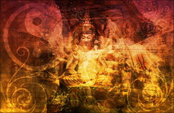 Buddha. Chinese Abstract Background as a Wallpaper Royalty Free Stock Photography