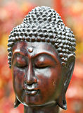 Buddha. Wooden handmade Buddha head sculpture Royalty Free Stock Photography