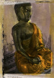 Buddha. Please contact me directly for Print resale licensing. Little Buddha statue, mix media processed photograph Stock Image