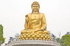 Buddha. 20 meter high Buddha gilded image statue Royalty Free Stock Images