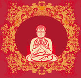 Buddha - abstract card Stock Images