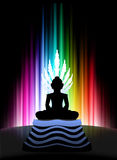 Buddha on Abstract Spectrum Background Royalty Free Stock Photography
