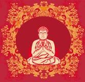 Buddha - abstrakt karta royalty ilustracja
