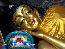 Buddha adagiantesi Fotografia Stock