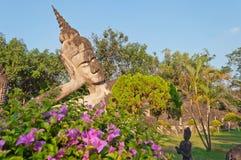 Buddha adagiantesi nella sosta di Buddha. Vientiane. Laotiani. Immagine Stock Libera da Diritti