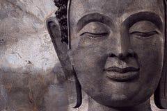 Buddha affronta fa della cera fotografia stock libera da diritti
