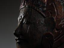 Buddha affronta il profilo scuro Fotografie Stock Libere da Diritti