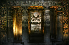 Buddha in Ajanta Caves Stock Photos