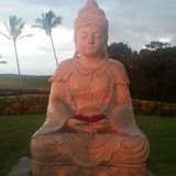 Buddha al tramonto Fotografia Stock Libera da Diritti