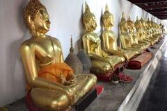 Buddha allineato Immagini Stock