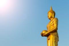 Buddha alms to the sky. Stock Image